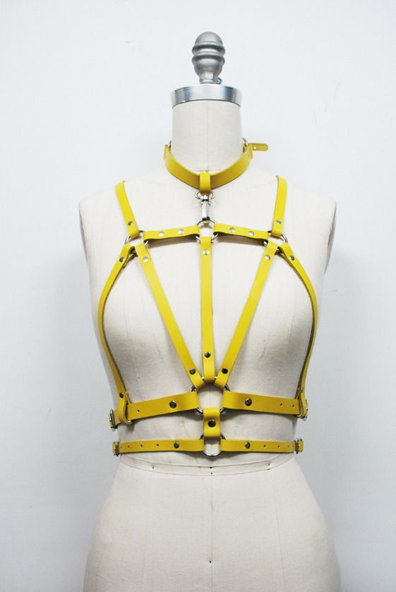 Zana Bayne Leather — Cruxus Harness - Yellow
