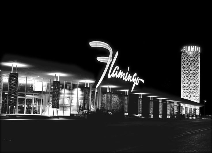 Old Las Vegas Casino Signs | The Flamingo Casino, as it looked in 1953, was the third resort to ...