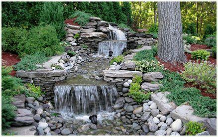 Backyard Waterfall Stream Construction Company Ny Nj Ct Beautiful Nature Pinterest