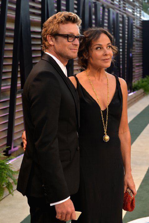 Simon Baker and his wife, Rebecca Rigg