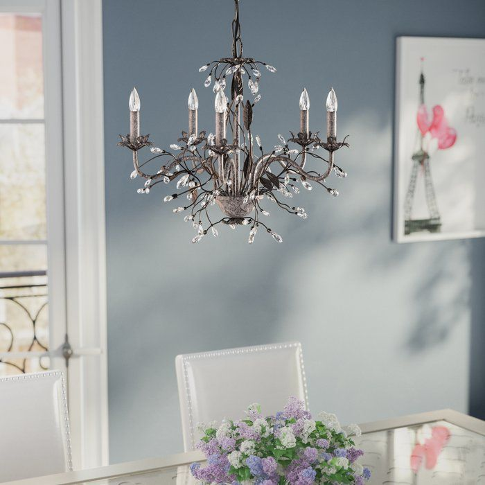 11 best wall paper upstairs hall images on pinterest wallpaper 5 light candle style chandelier aloadofball Image collections