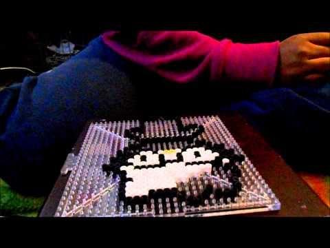 ▶ Perler bead Nerd Hello Kitty tutorial - YouTube