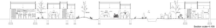 Hiroyuki Shinozaki Architects / Table Hat / cafe section