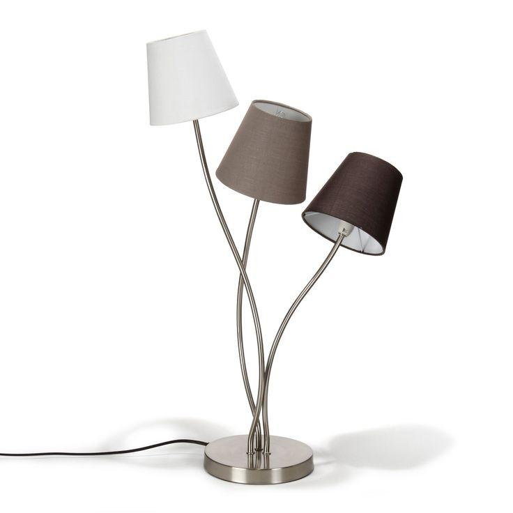 Lampe 3 lumi res h74cm en acier sewal les lampes - Alinea luminaires salon ...