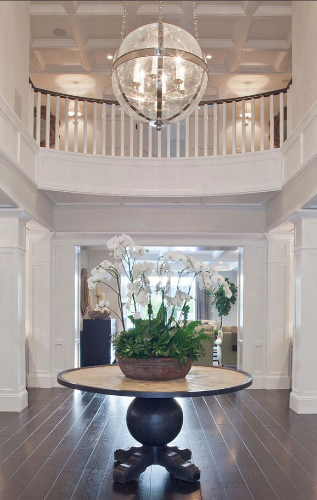 Foyer. Foyer Decor Ideas. Foyer Furniture. Coffered Ceiling Foyer. Foyer Decor. #Foyer