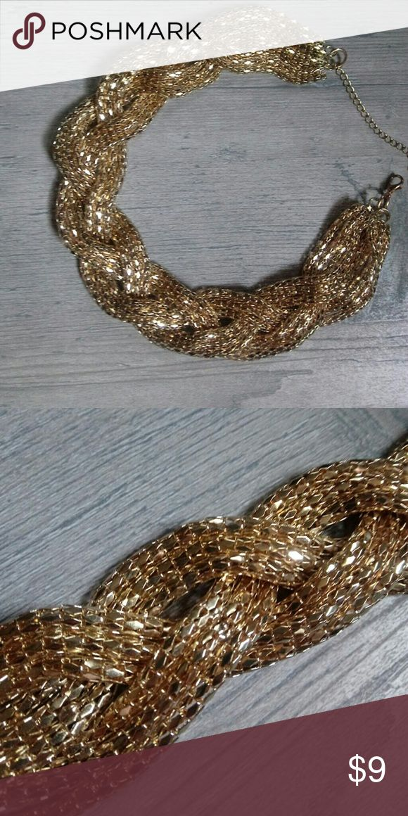 Gold statement necklace. Chunky gold statement necklace. Jewelry Necklaces