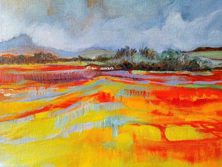 Barbara Becker 100 PAINTINGS IN 100 DAYS Painting #2 Oil on board