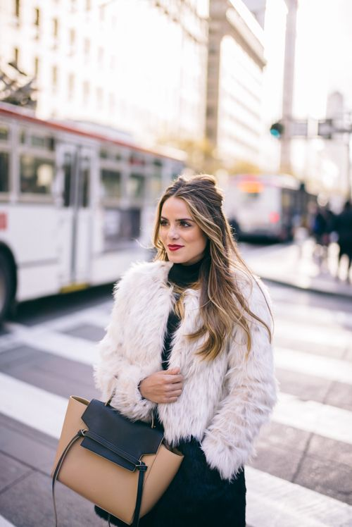 Gal Meets Glam San Francisco City Guide for the Holidays - Express Coat, Celine Bag
