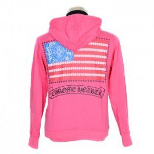 2013 Women Chrome Hearts Hoodie Red American Flag American Flag Chrome Hearts Hoodie color:red black printed Cotton zip front hoodie with ruffle trim at placket.  http://www.tradechromehearts.com/