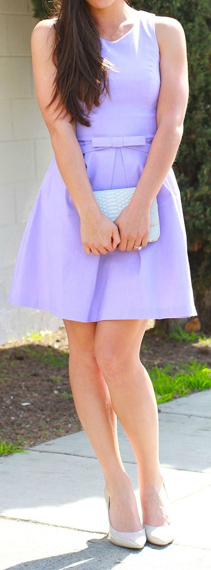 Lovely lavender dress. Perfect for Easter!