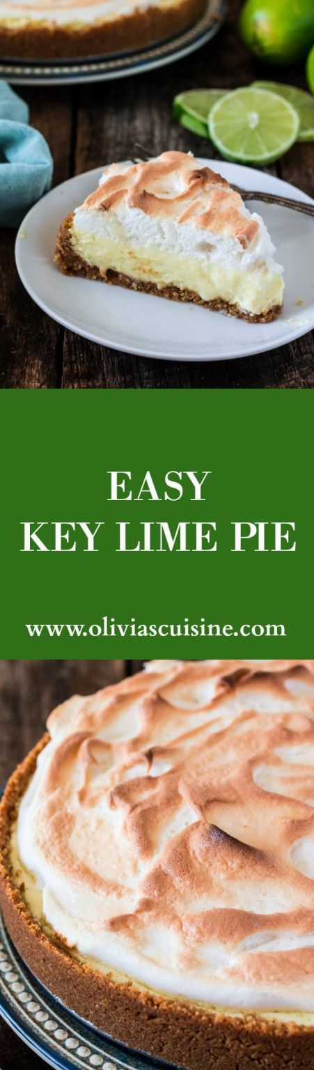 Easy Key Lime Pie | http://www.oliviascuisine.com | A perfectly sweet and tart dessert that originated in Key West. Super easy and a crowd pleaser! #sponsored #FLKeys