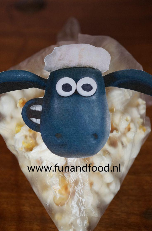 traktatie shaun the sheep popcorn