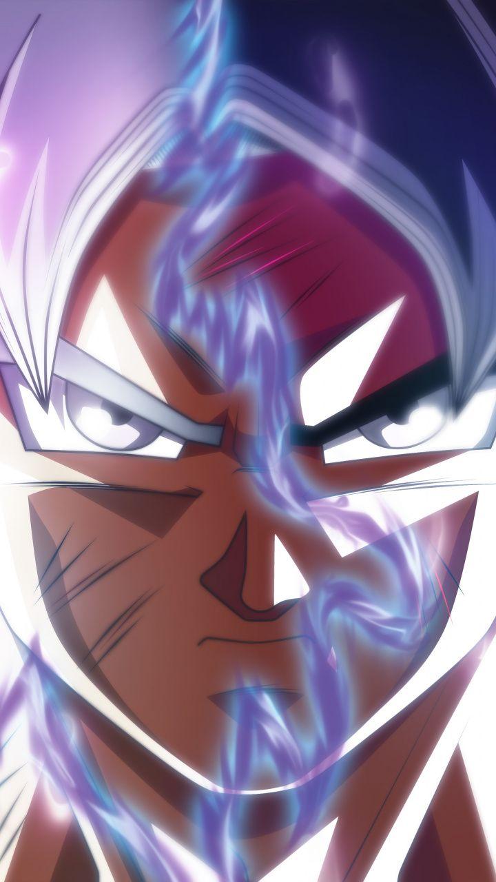 Download 720x1280 Wallpaper Goku Face Off Ultra Instinct Dragon