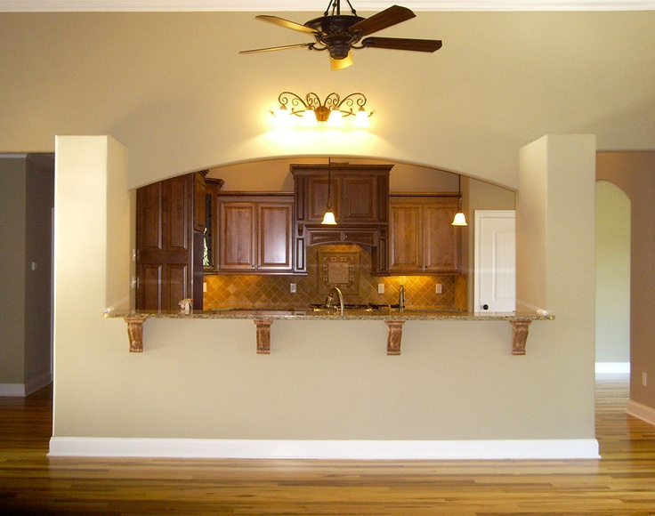 view of the kitchen in the verdelais plan 1186 through the front door of. Black Bedroom Furniture Sets. Home Design Ideas