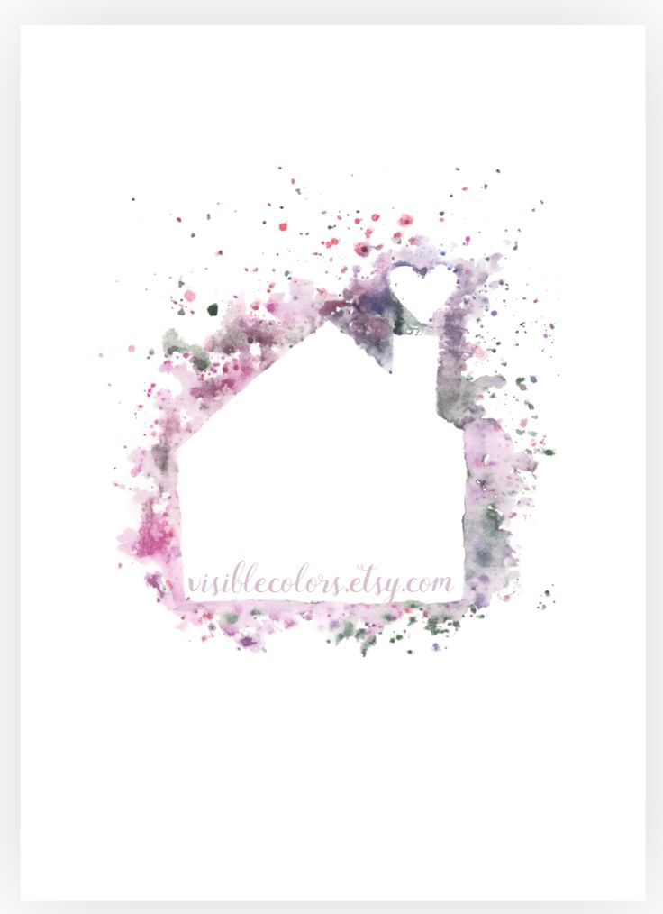 Abstract splash house watercolor art print by Visible Colors. Available via #etsy link #splash #abstract #art #shopping #purple #decor #colorful #homedecor