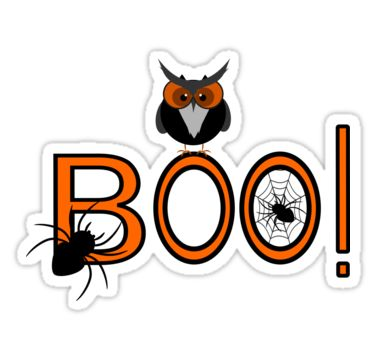 Decorate your laptop, notebook etc. with a funny #Halloween #sticker. @redbubble