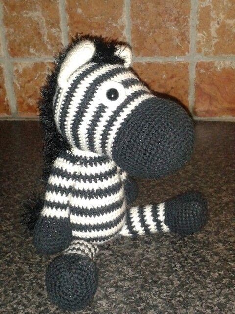 Gehaakte zebra