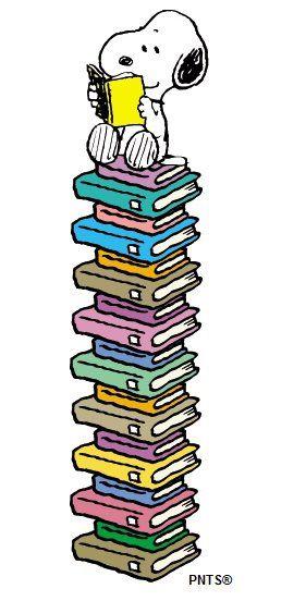 Snoopy und seine Bücher - ein Lesezeichen