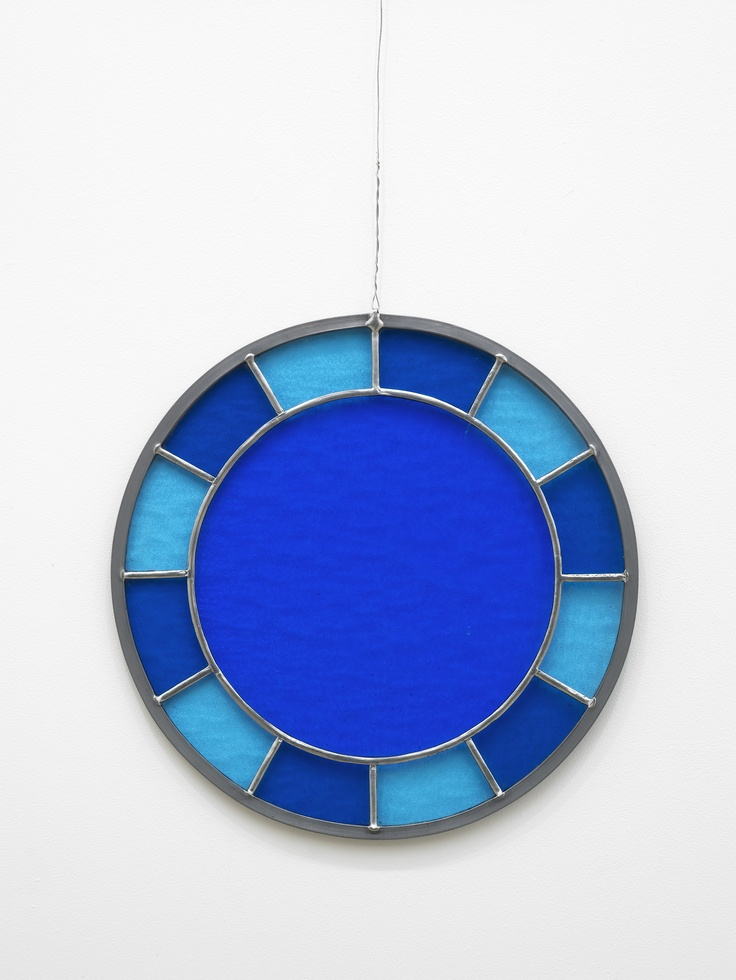 Ugo Rondinone 'blue blue blue clock'  Edition of 50 Lead and cathedral glass 31 cm in diameter (12 in)