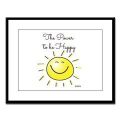 The Power To Be Happy Large Framed Print