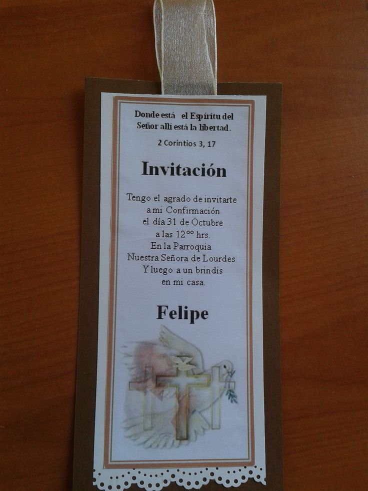 Invitación para Confirmación