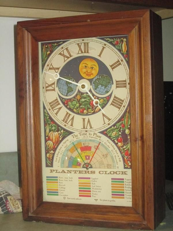 Planter S Clock Clocks Pinterest Clock Antiques And
