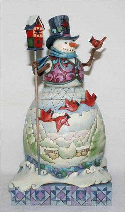 Jim Shore Heartwood Creek Winter on The Wing Cardinal Snowman Figurine 4015136 | eBay