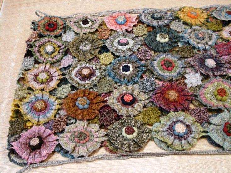 """Superbe étole 130 x 30 - Mercerie """"Au Petit Lyon"""" Sophie Digard crochet"""