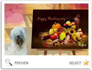 Thanksgiving Art dog ecard