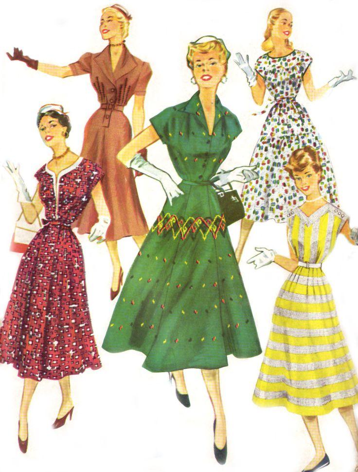 American fashion style 1950s dress
