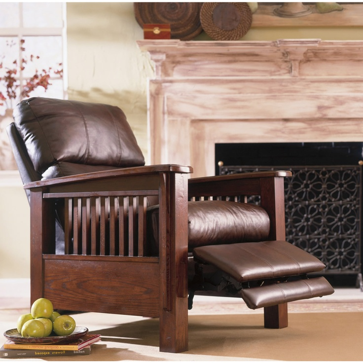 All leather high leg recliner in Monarch Valley leather
