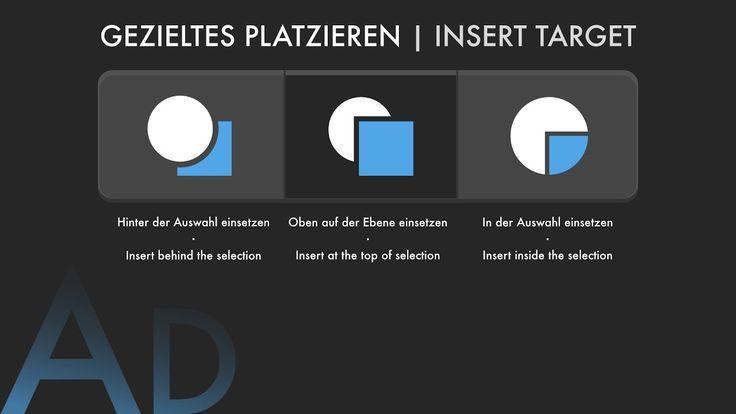 09 Quicktips Affinity Designer - Gezieltes Platzieren | Insert Target