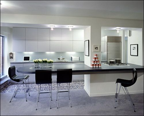 Merveilleux Black U0026 White Kitchen