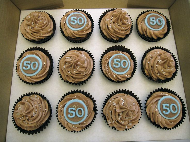 8 best Cupcakes images on Pinterest 50th birthday cupcakes