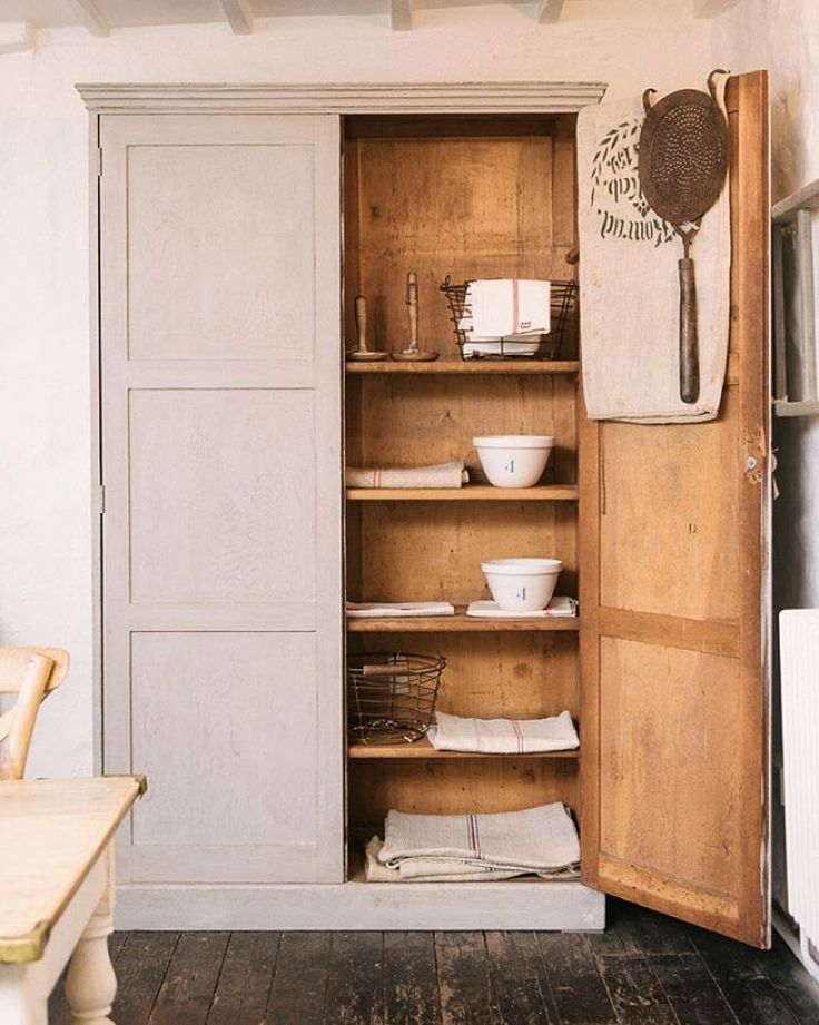 We've got some very beautiful new antique pieces for sale at #CotesMill... how amazing is this big old pantry cupboard!? We're open tomorrow from 10am-5pm and would love you to pop in and have a little explore. #deVOLKitchens