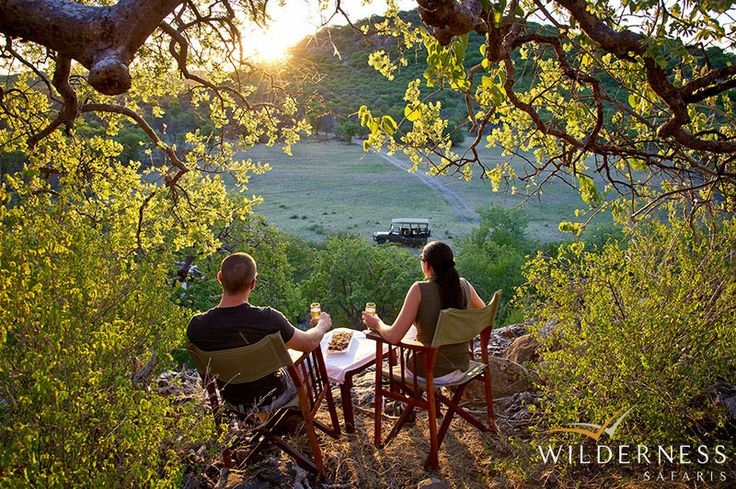 Ongava Lodge - Take in a Namibian sunset on an afternoon nature drive on Ongava Game Reserve #Africa #Safari #Namibia