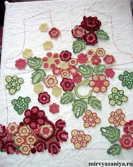 Irish crochet assembly