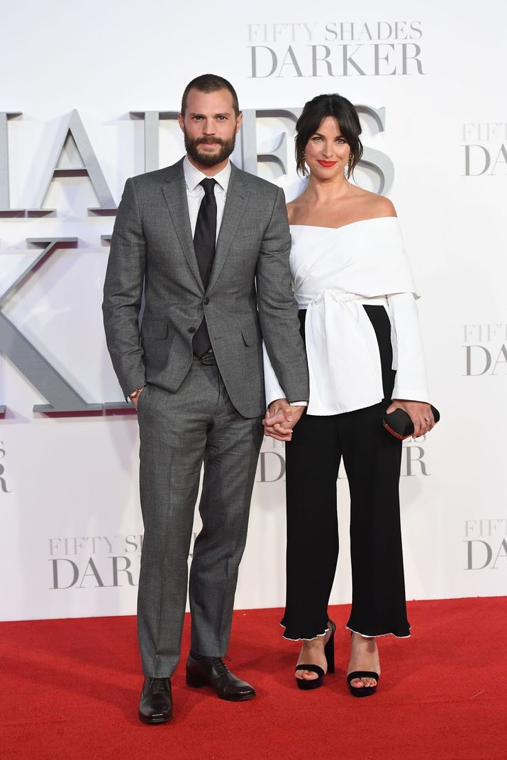 DAMMIT THEY ARE PERFECT #JamieDornan and the lovely wife Amelia Warner at #FiftyShadesDarker London premiere