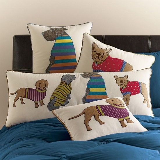Dog Themed Pillow Covers from The Company Store
