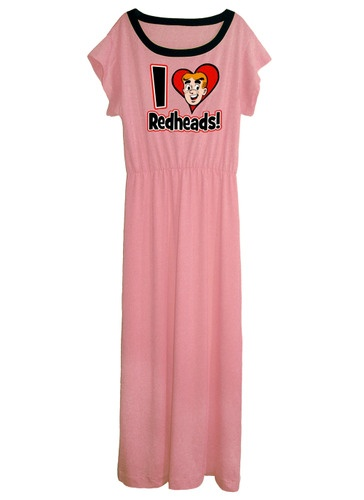 Archie Comics I Love Redheads Pink Grecian Goddess Long Maxi Gown