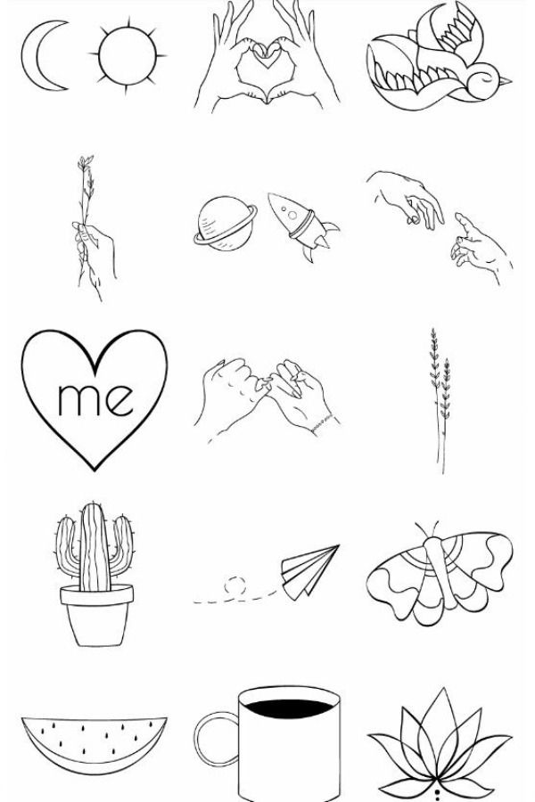 Sketches Of Small Tattoos Ideas Minimalism Doodle Tattoo Small