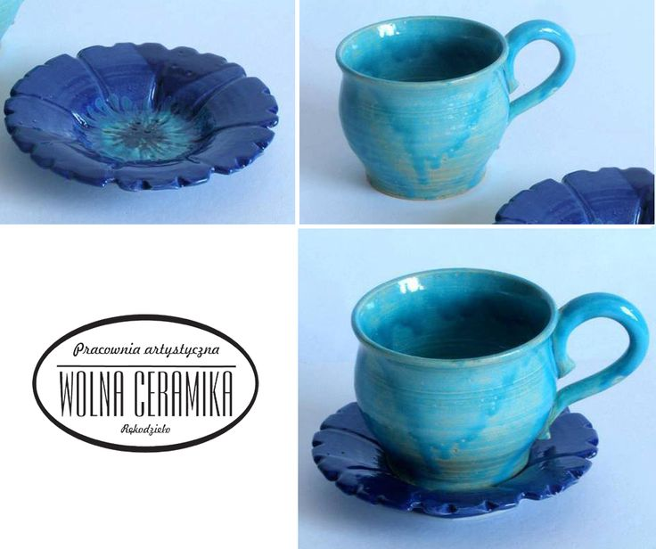 Blue cups.