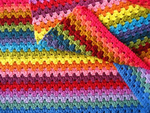 Granny Stripe Blanket by Attic24