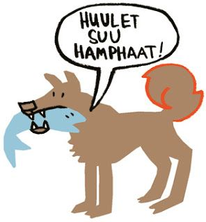 "Illustration by Ulrika Nilsson, www.ulrikanilsson.com. Published in ""Swedish-Tornedal phrase book and dictionary""."
