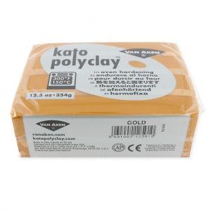 Pâte polymère Kato Polyclay 354 gr Doré (n°591) : L'argile polymère Kato Polyclay