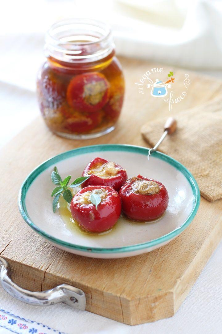 Peperoncini ripieni, semplice realizzarli in casa e senza precottura!  #peperoncini