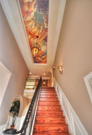 Ceiling mural---Interested in Buying or Selling in Los Angeles, the Realty Goddess has you covered! Find out what homes are available for FREE by texting LKHOMES to 87778 or downloading it on your iPad/Tablet by visiting http://87778.mobi/LKHOMES  Laura Key, Realtor www.KeyCaliforniaHomes.com @Laura Key (Realty Goddess) (Twitter)