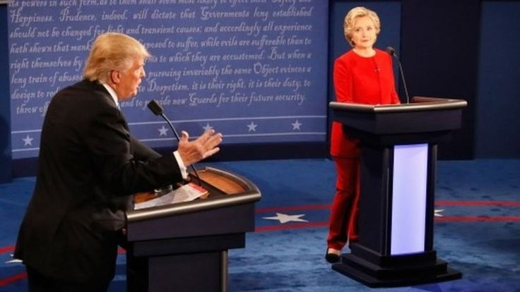Presidential candidates Hillary Clinton and Donald Trump clash over jobs, race and the Iraq War in a feisty first debate of the election campaign.