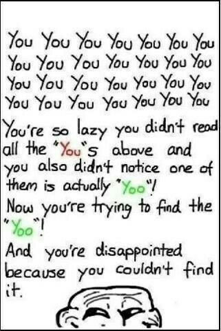 "Did you find ""Yoo"""