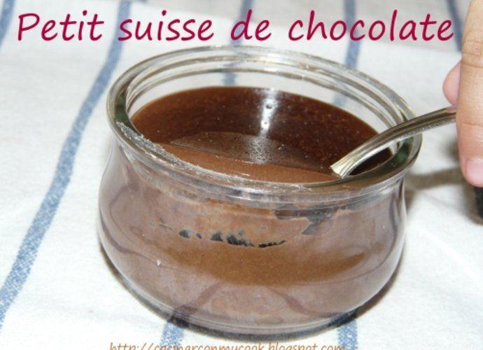 Petit Suisse de Chocolate para #Mycook http://www.mycook.es/cocina/receta/petit-suisse-de-chocolate